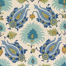 Peridot/Aquamarine Ethnic Drapery and Upholstery Fabric by Brunschwig & Fils