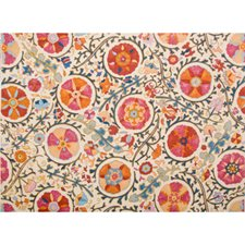 Raspberry Orange Botanical Drapery and Upholstery Fabric by Brunschwig & Fils