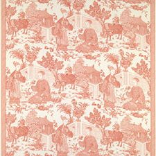 Coral Toile Drapery and Upholstery Fabric by Brunschwig & Fils