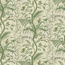 Green Toile Drapery and Upholstery Fabric by Brunschwig & Fils