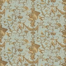 Chicory On Robins Egg Animal Drapery and Upholstery Fabric by Brunschwig & Fils