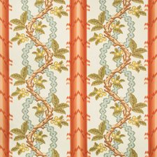 Spice/Celadon Botanical Drapery and Upholstery Fabric by Brunschwig & Fils
