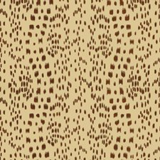 Brown Geometric Drapery and Upholstery Fabric by Brunschwig & Fils