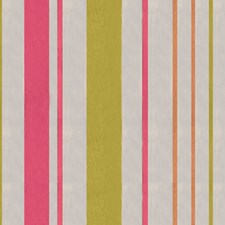 Chartreuse/Pink Stripes Drapery and Upholstery Fabric by Brunschwig & Fils