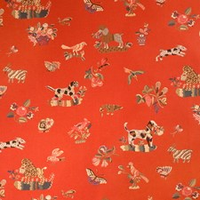 Tomato Tapestry Drapery and Upholstery Fabric by Brunschwig & Fils