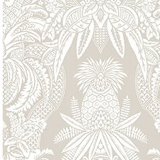 Bianco/Beige Drapery and Upholstery Fabric by Scalamandre