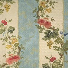 Multi On Sky Blue Drapery and Upholstery Fabric by Scalamandre