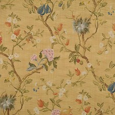 Multi On Antique Gold Drapery and Upholstery Fabric by Scalamandre