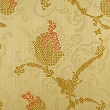 Topaz/Gold On Yellow Drapery and Upholstery Fabric by Scalamandre