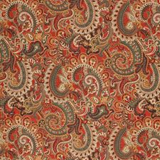 Ming Red Drapery and Upholstery Fabric by RM Coco