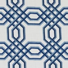 Blue/Turquoise Embroidery Drapery and Upholstery Fabric by Duralee