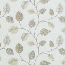 Natural/Gold Embroidery Drapery and Upholstery Fabric by Duralee