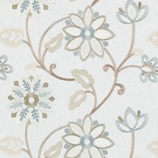 Turquoise/olive Drapery and Upholstery Fabric by Duralee