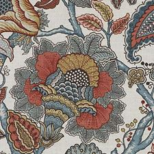 Autumn Floral Vine Drapery and Upholstery Fabric by Duralee