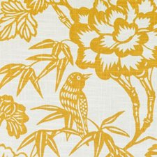Gold Birds Drapery and Upholstery Fabric by Duralee