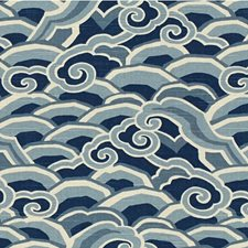 Ultramarine Asian Drapery and Upholstery Fabric by Kravet