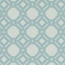 Aqua Abstract Drapery and Upholstery Fabric by Duralee