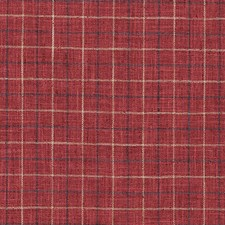Red Plaid Drapery and Upholstery Fabric by Duralee