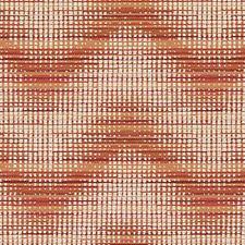 Persimmon Herringbone Drapery and Upholstery Fabric by Duralee