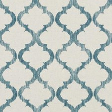 Teal Medallion Drapery and Upholstery Fabric by Duralee