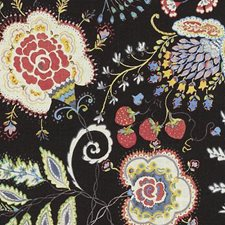 Ebony Birds Drapery and Upholstery Fabric by Duralee