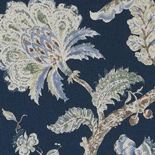 Lapis Floral Large Drapery and Upholstery Fabric by Duralee