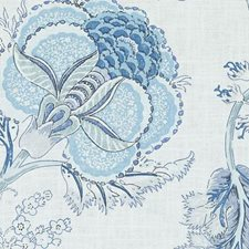 Chambray Floral Large Drapery and Upholstery Fabric by Duralee