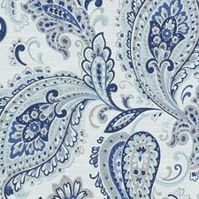 Blue/Turquoise Paisley Drapery and Upholstery Fabric by Duralee