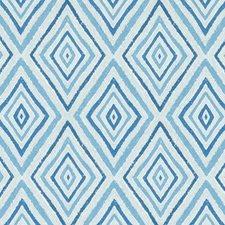 Aquamarine Diamond Drapery and Upholstery Fabric by Duralee