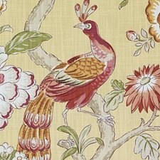 Goldenrod Floral Large Drapery and Upholstery Fabric by Duralee