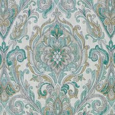 Jade Paisley Drapery and Upholstery Fabric by Duralee