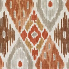 Natural/Russett Diamond Drapery and Upholstery Fabric by Duralee