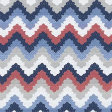 Blue Herringbone Drapery and Upholstery Fabric by Duralee