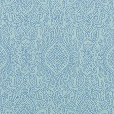 Turquoise Medallion Drapery and Upholstery Fabric by Duralee