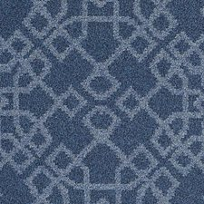 Indigo Geometric Drapery and Upholstery Fabric by Duralee