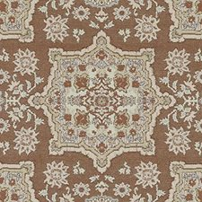 Chilipepper Medallion Drapery and Upholstery Fabric by Duralee