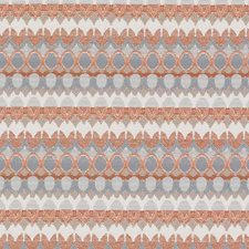 Papaya Geometric Drapery and Upholstery Fabric by Duralee