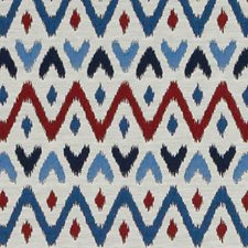 Red/Blue Diamond Drapery and Upholstery Fabric by Duralee