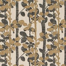 Gold/black Drapery and Upholstery Fabric by Duralee