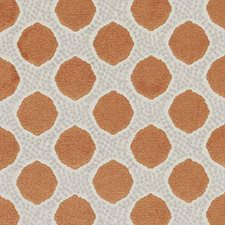 Tangerine Abstract Drapery and Upholstery Fabric by Duralee