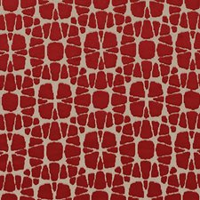 Scarlet Abstract Drapery and Upholstery Fabric by Duralee