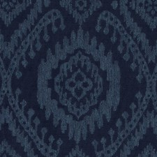 Navy Ethnic Drapery and Upholstery Fabric by Duralee