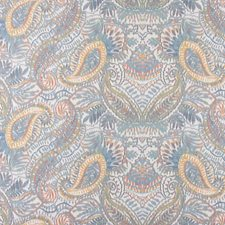 Slate Blue/Multi Drapery and Upholstery Fabric by Scalamandre