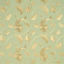 Duck Egg Embroidery Drapery and Upholstery Fabric by Threads