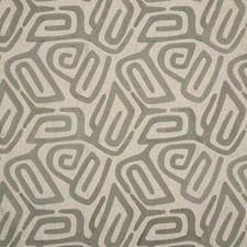 Pewter Embroidery Drapery and Upholstery Fabric by Threads