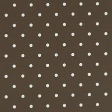 Chocolate Dots Drapery and Upholstery Fabric by Clarke & Clarke