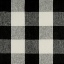 Charcol Plaid Drapery and Upholstery Fabric by Clarke & Clarke