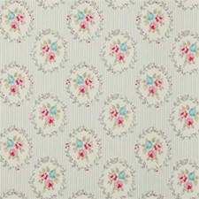 Grey Floral Small Drapery and Upholstery Fabric by Clarke & Clarke