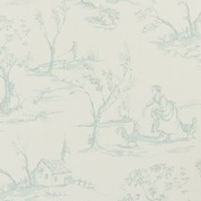 Duckegg Animal Drapery and Upholstery Fabric by Clarke & Clarke