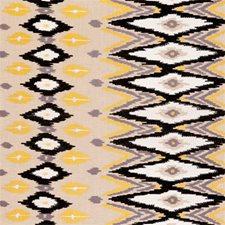 Ochre Diamond Drapery and Upholstery Fabric by Clarke & Clarke
